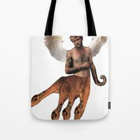 hydra Tote Bags featuring HYDRA PAN by Michael Angelo Galasso