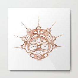 Copper Frog Spirit Metal Print