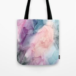 Dark and Pastel Ethereal- Original Fluid Art Painting Tote Bag