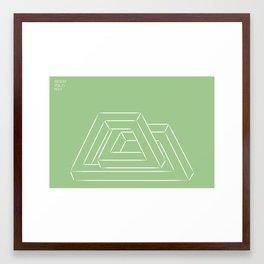 gehen Sie seitlich Framed Art Print