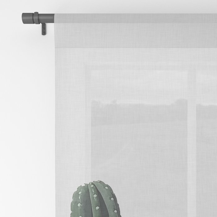 Cactus I Sheer Curtain
