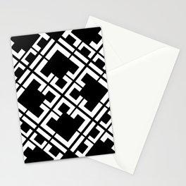 Geometric Tile // Black Stationery Cards