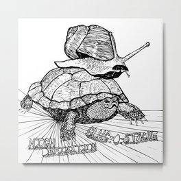 Slug O Stache Metal Print