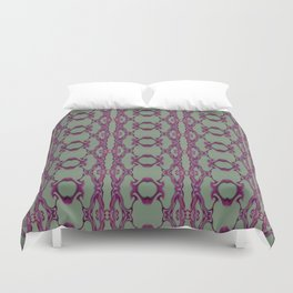 Blueberry lace Duvet Cover