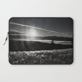 Truckee Sunrise in black and white Laptop Sleeve
