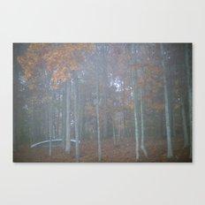 The autumn canoe Canvas Print