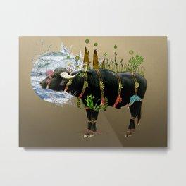 Water Buffalo Metal Print