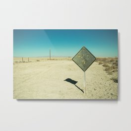 End of the Line - Salton Sea Metal Print