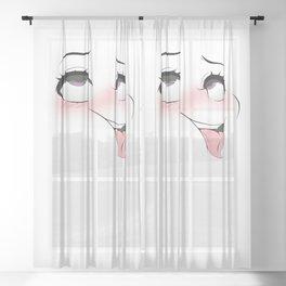 Ahegao Sheer Curtain