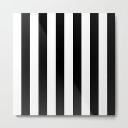 Blu Stripes Metal Print
