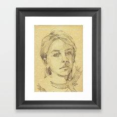 The Stranger - L'inconnue Framed Art Print