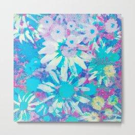far out! floral tie dye Metal Print