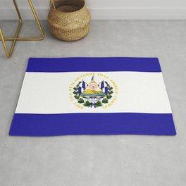 El Salvador flag emblem Rug