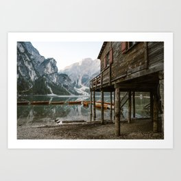 Lago di Braies | Travel Art print Italy | Dolomites South Tirol Art Print