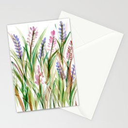 Lavender Watercolor No. 1 Stationery Cards