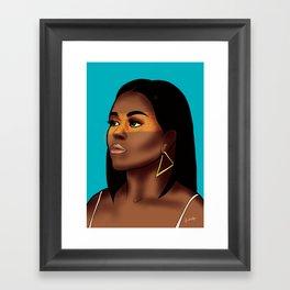 Michelle Obama Framed Art Print