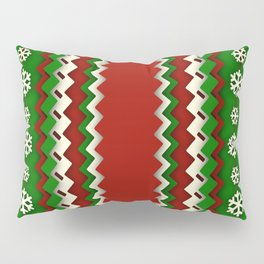 Xmas Zigzag Pattern Pillow Sham