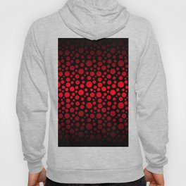 Red and Black Gradient Circles Hoody