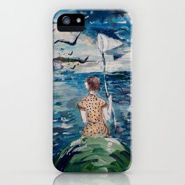 girl and the sea iPhone Case