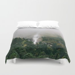 Misty Mountain Morning Duvet Cover