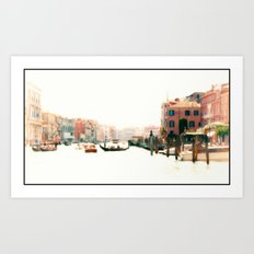 Venice, Italy Surreal Grand Canal Art Print