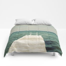 Mint Lake Escape  Comforters