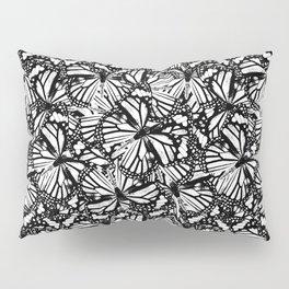 Monarch Butterflies Pattern | Butterfly Pattern | Black and White | Pillow Sham