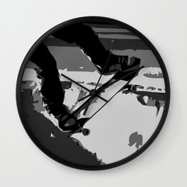 Half Pipe Skateboarding Wall Clock