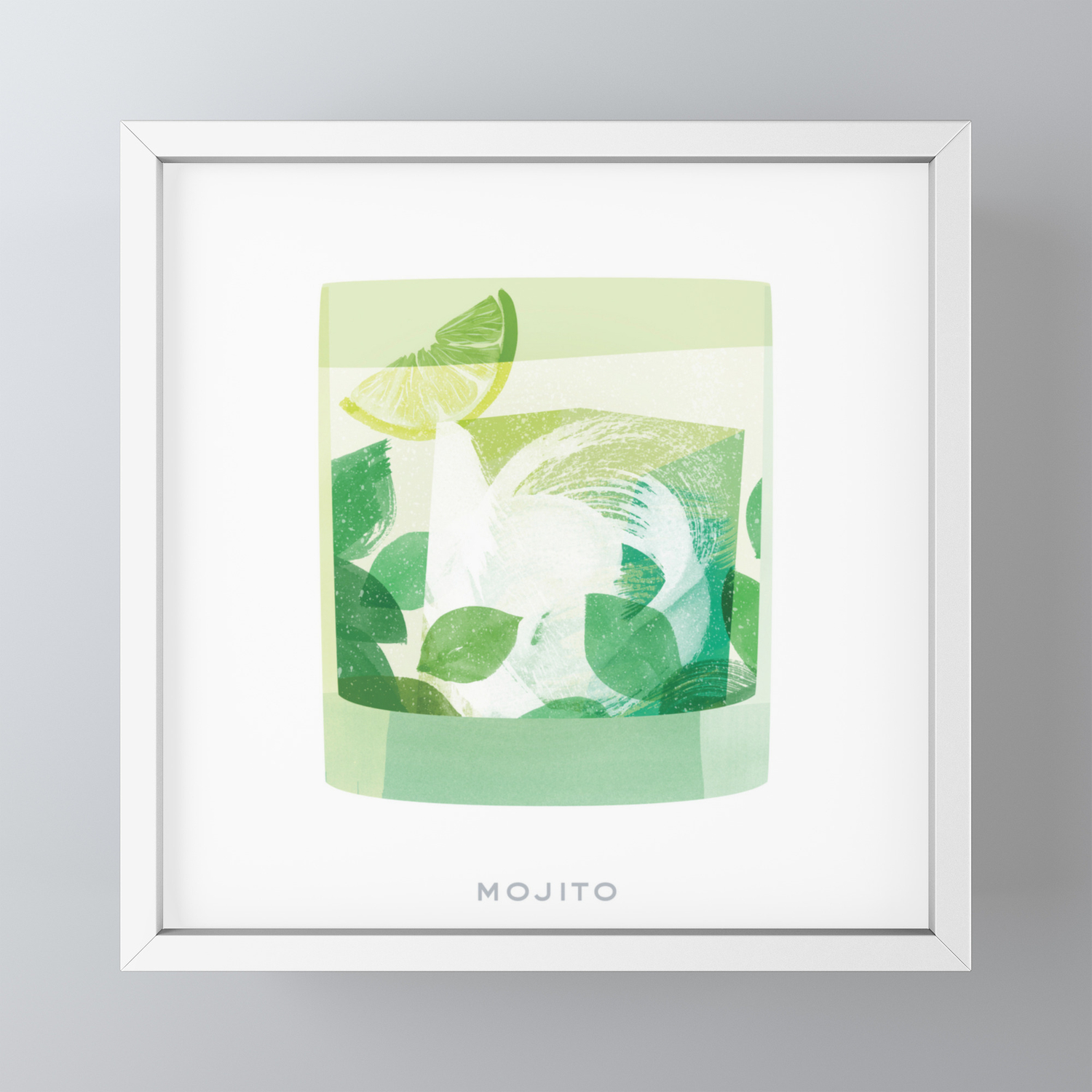Cocktail Hour Mojito Framed Mini Art Print By Sferone Society6