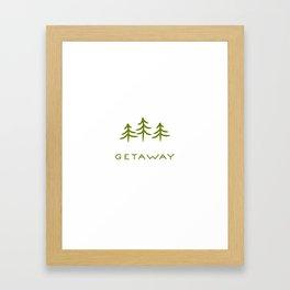 Getaway Framed Art Print