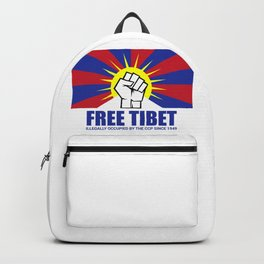 Free Tibet; Occupied since 1949 Backpack
