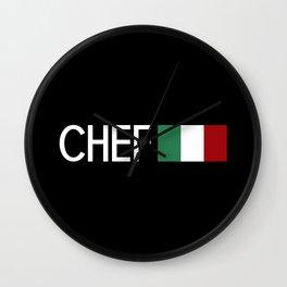 Chef (Italian Flag) Wall Clock
