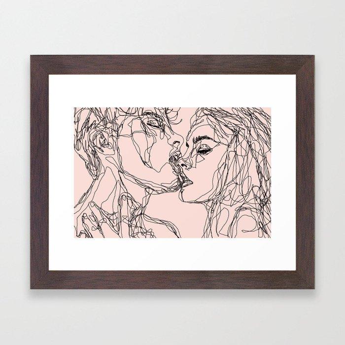 kiss more often Framed Art Print