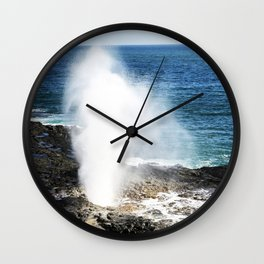 Kauai, Hawaii South Shore Blow Hole Wall Clock