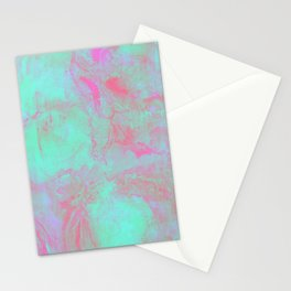 Teal Pink Stationery Cards