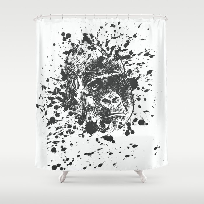 Painting Monkey Shower Curtain
