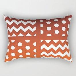Autumn Gradient/White Chevron/Polkadot Pattern Zigzag Spot Fall Decor #ArtofGaneneK Rectangular Pillow