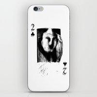 card iPhone & iPod Skins featuring Card by Alvaro de Mendonca