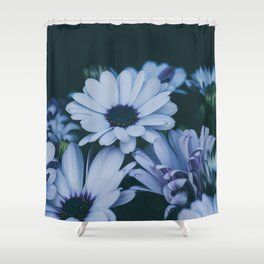 Flower Photography by Echo Grid Shower Curtain