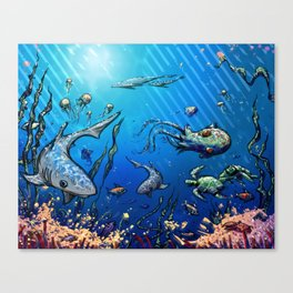 Unda da Sea Canvas Print