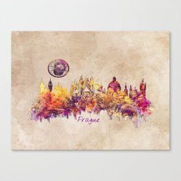 Prague skyline panorame Canvas Print
