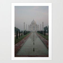 Taj dawn Art Print