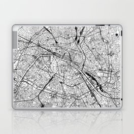 Paris White Map Laptop & iPad Skin