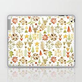 Winter forest scandinavian background Laptop & iPad Skin