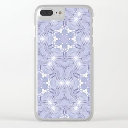 FRACTAL CROWN HYDRANGEA PATTERN Clear iPhone Case