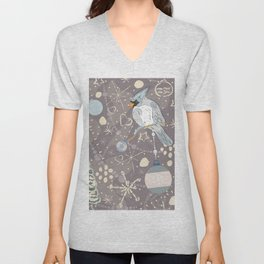 Christmas Bird Unisex V-Neck