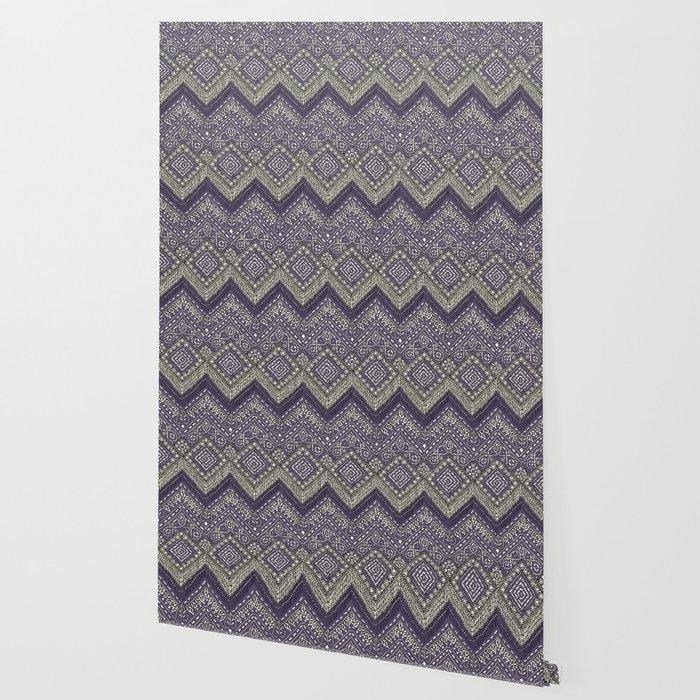 beaded chevron plum Wallpaper