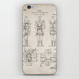 Parachute Pack Patent - Sky Diving Art - Antique iPhone Skin