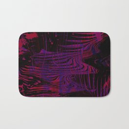 Disoriented Palette; Pink, Black and Purple Bath Mat