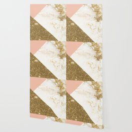 Gold marble collage Wallpaper